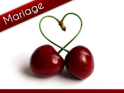 Mariage Coeur Cerise